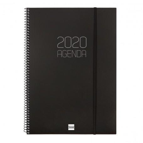 AGENDA FINOCAM 2020 OPAQUE A4, ESPIRAL S/V HORITZONTAL 210X297 NEGRE