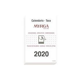 CALENDARIO 2020 MYRGA TACO GRANDE MURAL 14x20cm CASTELLANO