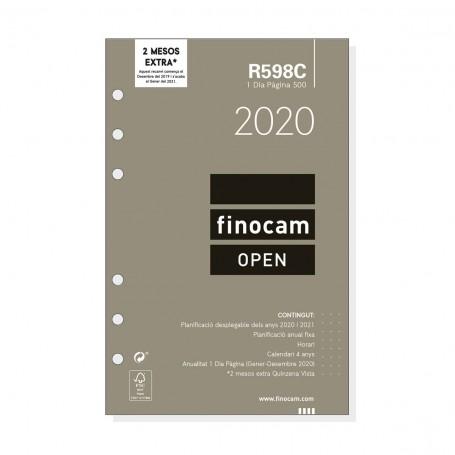 Recambio Anual 2020 Día Página Open R598C Finocam Catalán