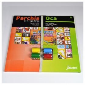 Parchís-Oca FOURNIER, 4 Jugadores Tablero 33 x 33 cm. + Accesorios