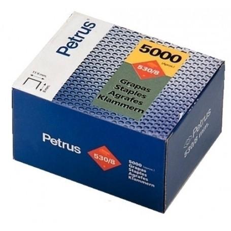GRAPAS PETRUS CLAVADORA 530/ 6 mm. COBREADAS caja de 5000