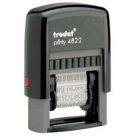 SELLO ent.AUT. TRODAT PRINTY 4822 ECO FORMULARIO 12 TEXTOS 4 mm.