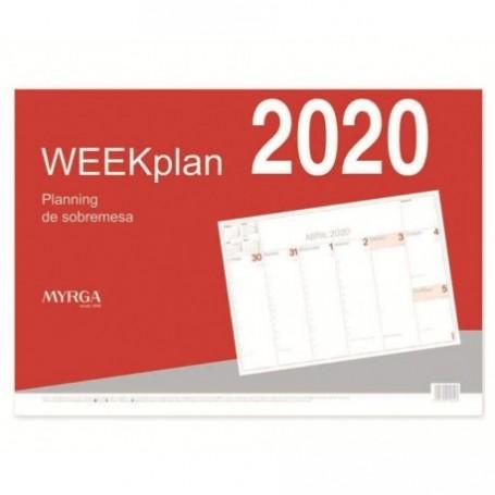 PLANNING SOBREMESA 2020 MYRGA WEEKPLAN