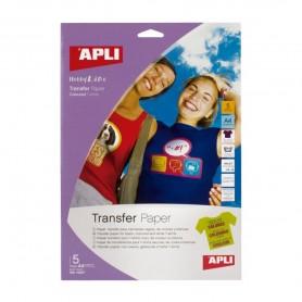 Papel transfer A4 prendas de color 5 hojas