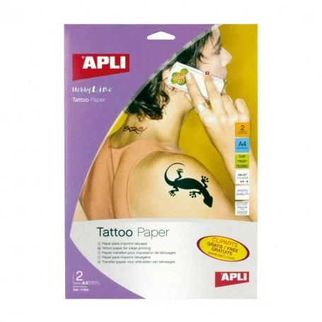 Papel para tatuajes A4 inkjet 2 hojas