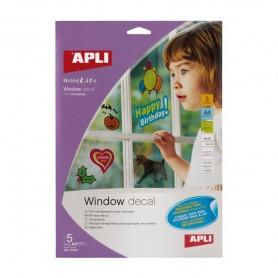 Film transparente A4 para ventanas inkjet 5 hojas