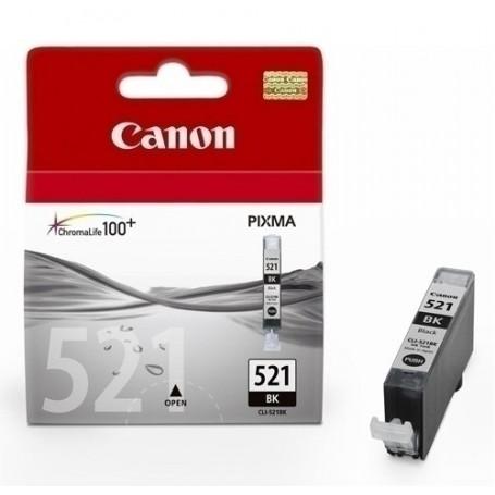 CART.IJ.CANON NEGRO CLI-521BK PIXMA MP- 620/630/980/540 PIXMA IP- 3600/4600 (2933B001)