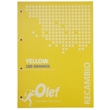 RECAMBIO OLEF A4 80h 100gr 4 TALADROS CUADRIC.5x5