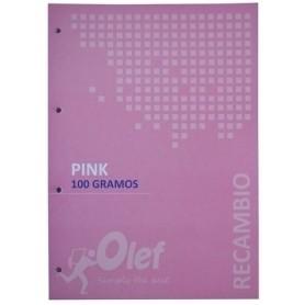 copy of RECAMBIO OLEF A4 80h 100gr 4 TALADROS CUADRIC.5x5 ROJO
