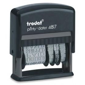 FECHADOR ent.AUT. TRODAT PRINTY 4817 3,8 mm. FORMULARIO COMERCIAL 12 TEXTOS
