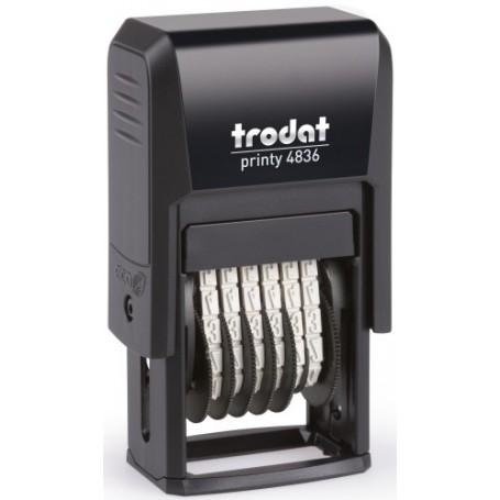 NUMERADOR ent.AUT. TRODAT PRINTY 4836 (3.8 mm. 6 bandas)