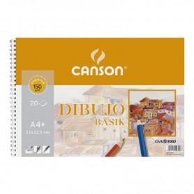 BLOCK DE DIBUJO GUARRO-CANSON BASIK (espiral) 130g A4+ 20h MICRO LISO