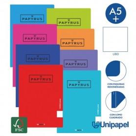Libreta grapada Tapa Polipropileno PAPYRUS A5, LISA C/MARGEN