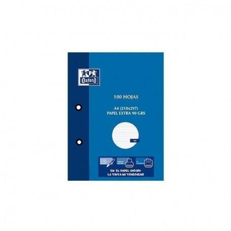 Cuaderno Oxford School Fº 80H 90G 4X4/M Tapa Plastic rojo
