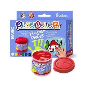 PLAYCOLOR PINTURA DE DEDOS 6 COLORES