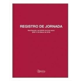 LIBRO REGISTRO JORNADA LABORAL Fº 40 h 70 gr