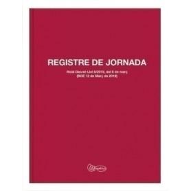 LIBRO REGISTRO JORNADA LABORAL Fº 40 h 70 gr CATALAN