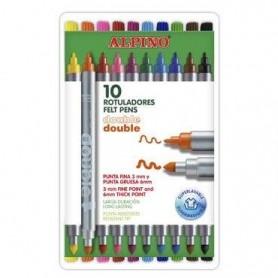 Set 10 rotuladores dobles Alpino
