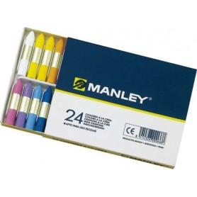 Caja de Ceras 24 Colores Manley