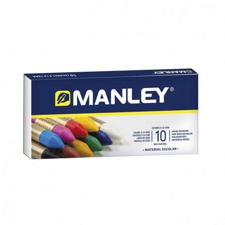 Estuche 10 ceras Manley