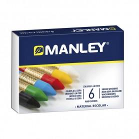 Estuche 6 ceras Manley