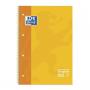 Libreta Espiral Oxford Tapa Extradura Microperforado DIN A4 80 Hojas Cuadros 5mm -COLOR Amarillo