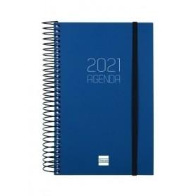 AGENDA (2021) FINOCAM ESPIRAL OPAQUE E5 11,7x18,1 D/P AZUL