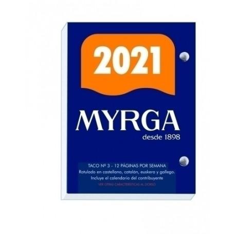 TACO BUFFET (2021) MYRGA 8,3x11 Nº 3 AUTONOMICO