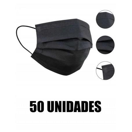 PACK MASCARILLA HIGIÉNICA DE 3 CAPAS   50 UDS