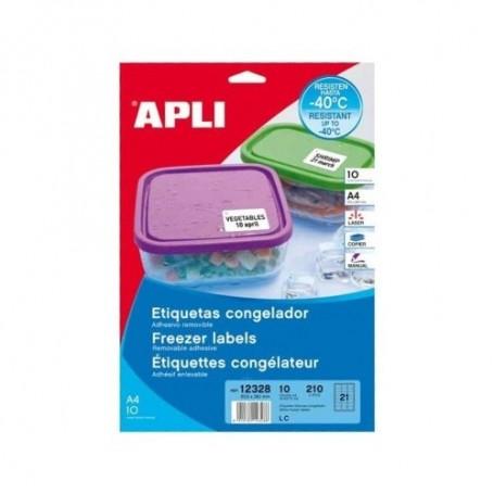 Etiqueta Congelados Apli 12328 63.5x38.1 210 E.