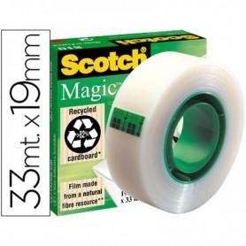 CINTA ADHESIVA SCOTCH MAGIC INVISIBLE rollo 33x19