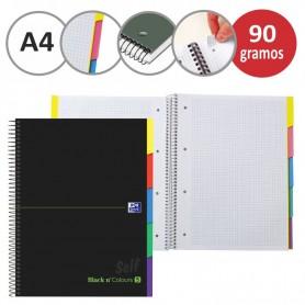 CUADERNO OXFORD EU.BOOK 5 SEPARADORES micro.tapa EXTRA A4+ 100h CUADRIC.5x5 90g