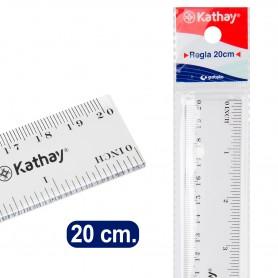 REGLA PLASTICO 20cm KATHAY