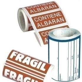 "ETIQUETAS ENVIO APLI 50x100 mm ROLLO 200 uds.""FRAGIL"""