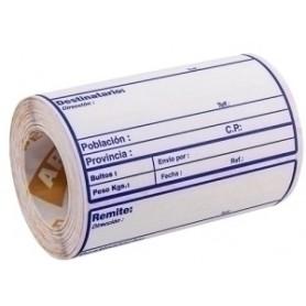 ETIQUETAS ENVIO APLI 82x109 mm ROLLO 200 uds. CON DATOS