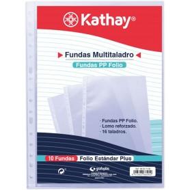 Pack 20 Fundas Multitaladro tamaño folio