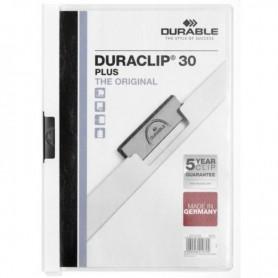 DOSSIER CLIP DURACLIP PVC A4 2213 CANGURO pinza METAL 30h BLANCO