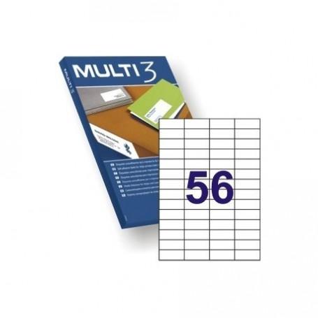 ETIQUETA A4 MULTI3 100 HJS 52,5 X 21,2 MM