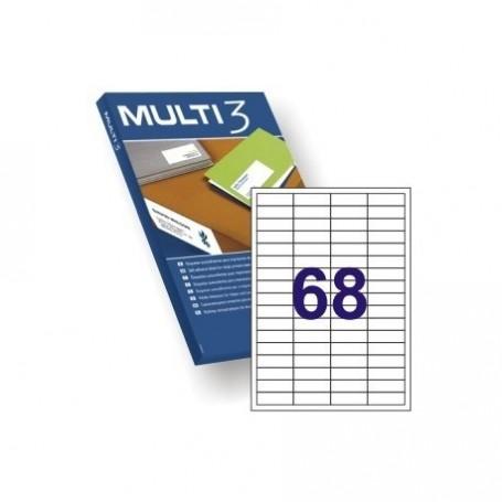 ETIQUETA A4 MULTI3 100 HJS 48,5 X 16,9 MM