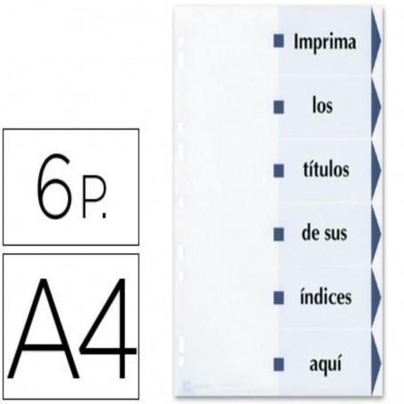 SEPARADOR DE CARTULINA AVERY IMPRIMIBLE A4, 6POSICIONES