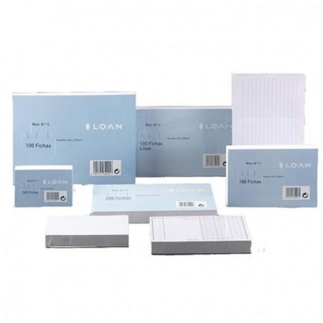 FICHAS LOAN LISAS 160x215mm (Nº5) paquete de 100