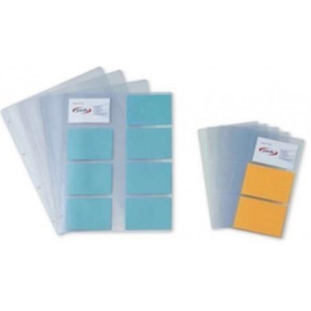 FUNDA para TARJETAS PARDO PVC 150µ A4 8 DPTOS. 4 TAL. (10 unidad)