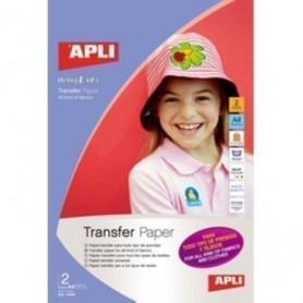 PAPEL INKJET TRANSFER APLI A4 2h para TODO tipo de PRENDAS