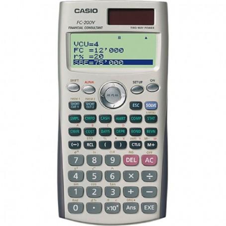 CALCULADORA FINANCIERA CASIO 10+2 DIGITOS FC-200 V
