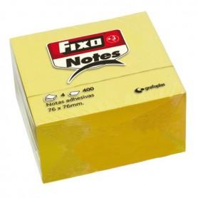 CUBO 400 NOTAS 76X76 ADHESIVAS FIXO