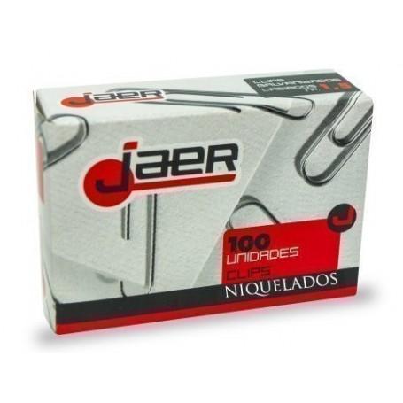 CLIP JAER Nº2 (32 mm.) LABIADO NIQUELADO CAJA de 100