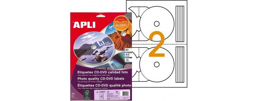 etiquetas cd y dvd impresora apli